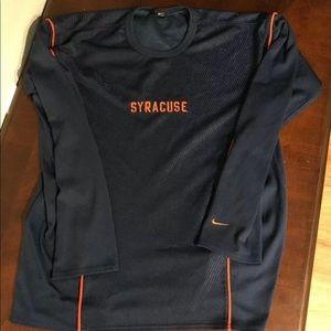 Syracuse Orange Nike Long Sleeve Shirt Sz Large